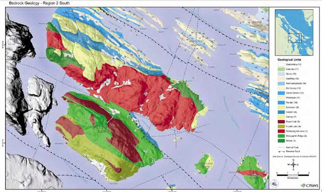 Geological Map Of Salt Spring Island