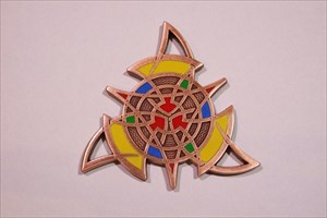 The Celtic Triangle Geocoin - Antik Kupfer