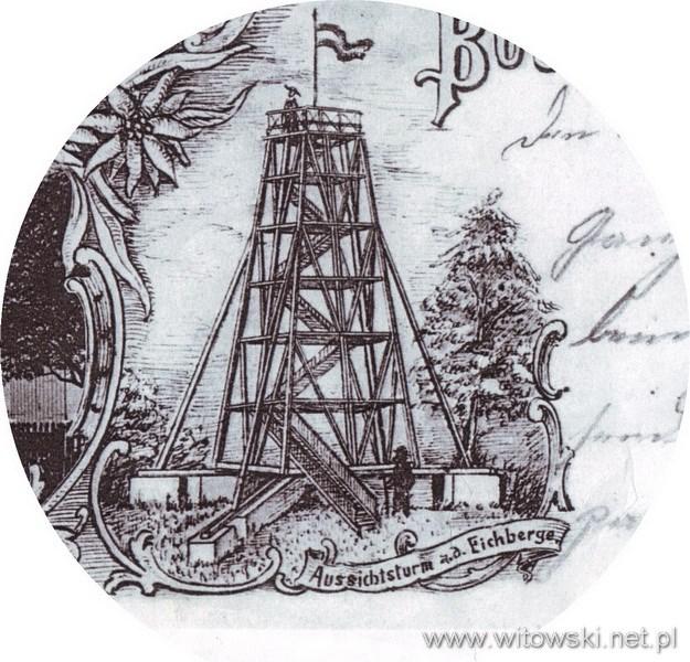 Dawne zdjęcie wieży widokowej na Dębnicy