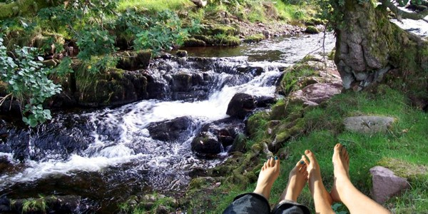 Sitting By The Edge Of The Stream