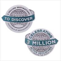 3 Million Geocaches Geocoin
