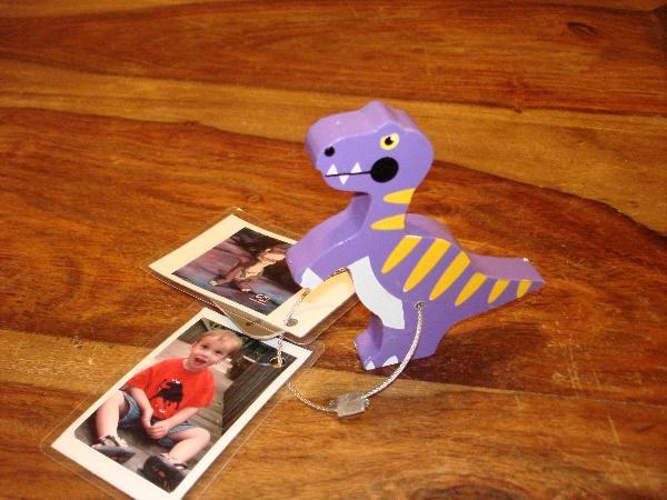 TB27QYK) Travel Bug Dog Tag - Benjamin's Bugs Dynamic Dino