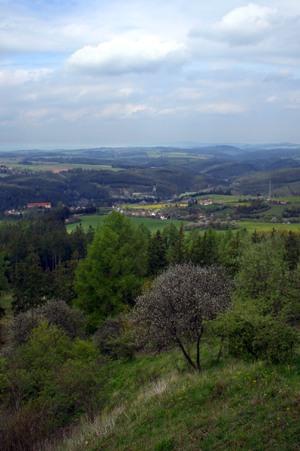 Vyhlídka na Třebel aúdolí Kosového potoka
