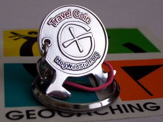 Kosho Hogwild World Famous Travelling Geocoin