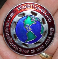 World Travel Geocoin 2013
