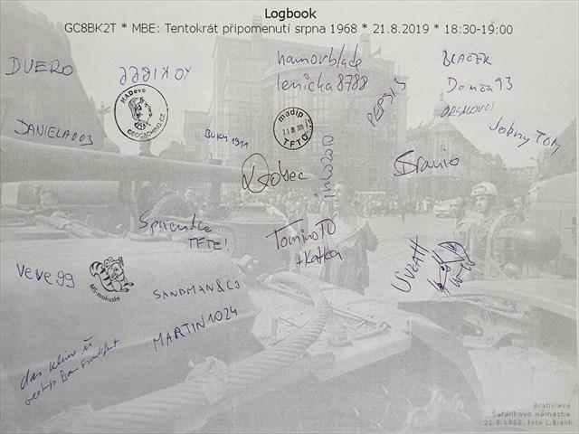 Logbook * MBE: Tentokrát pripomenutí srpna 1968