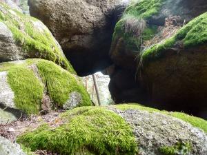 Tunel nedaleko kešky