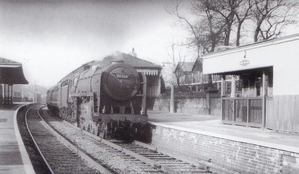 Chorlton-cum-Hardy in its heyday, 70014 with an express from Manchester to London in 1960 (WA Brown)
