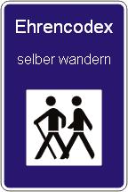 Ehrencodex - selber wandern