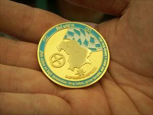 Bavaria Geocoin (Gold) - Vorderseite