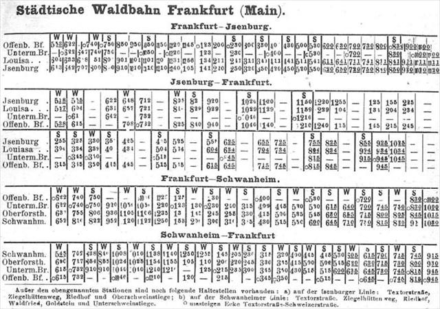 Fahrplan 1912