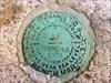 MY0571 Benchmark disk closeup