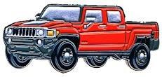 Hummer Racer Geocoin red