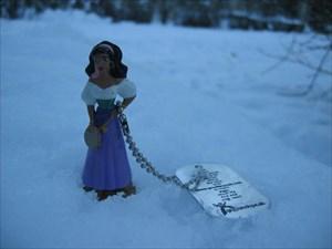 Esmeralda in snowy Kankaanpää
