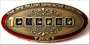 1 Million Geocache Geocoin Antik Gold