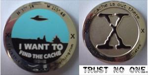 """Trust no one"" Geocoin"