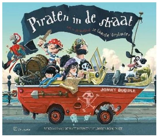 Coverpagina van het boek Piraten in de straat