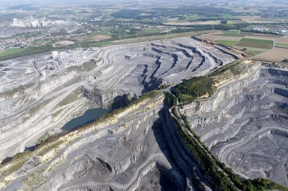 Vue aérienne de la carrière du Milieu, Tournai