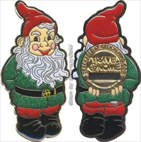 Gnaughty & Gnice Holiday Gnomes Geocoin