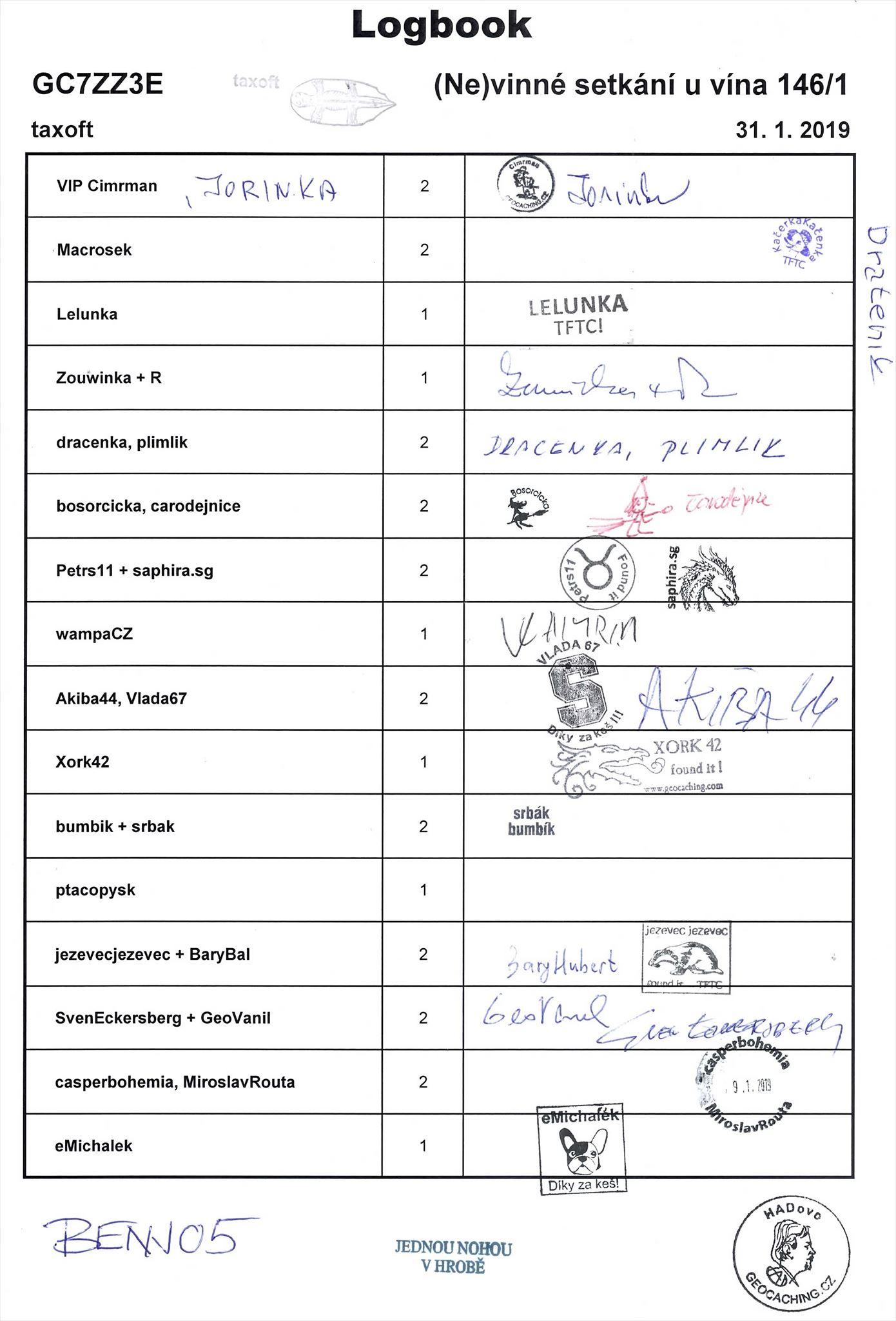GC7ZZ3E - (Ne)vinné setkání u vína 146/1 - logbook