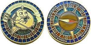 Volunteer Compass Geocoin