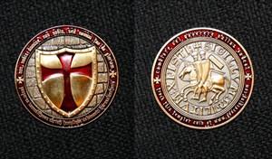 Gold Knight - Templar Geocoin