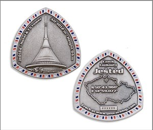 Jested – Czech Lookout Geocoin