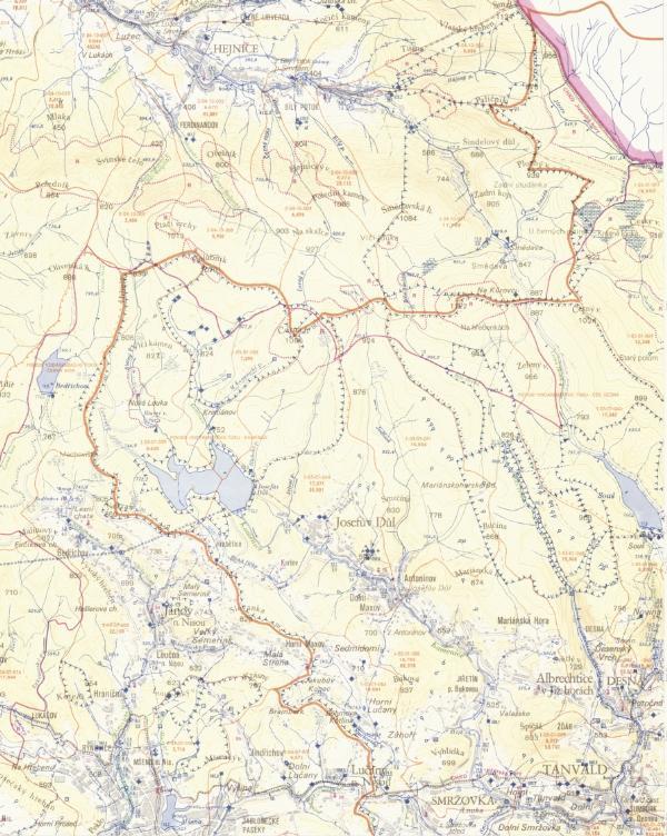 Zakladni vodohospodarska mapa 1:50 000 - Jizerske hory
