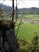 Freiwandl-Cache Blick vom Gipfel-Plateau der freistehenden Wand hinab nach Hinterwössen