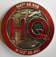 LordT's Geocaching HQ Geocoin - Front
