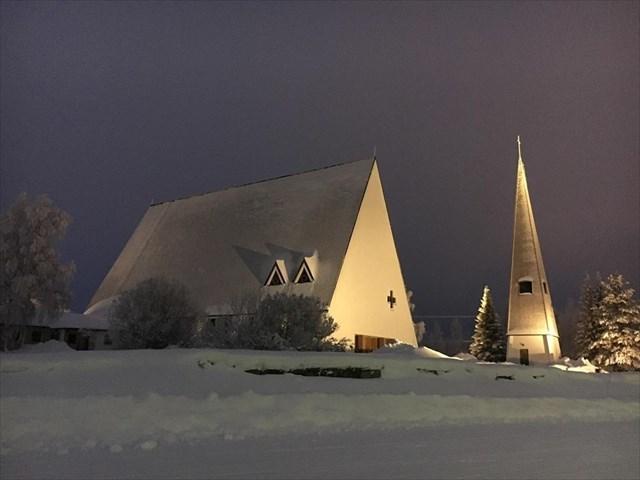 Sallan kirkko Kuva: Tuomo Taskila
