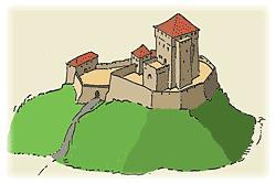 Aufbauskizze Burgruine Schlössel