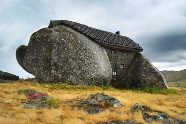 Nestled in the hills of Portugal lies Casa do Penedo. photo by geocacher trinamixx