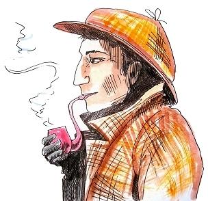 Sherlock Holmes - originální ilustrace přímo ze hry