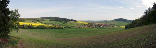 Panorama od Stříbrnice po Stramchyni