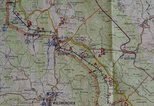 Mapa úseku Lísková