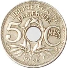 Pièce de 5 centimes 1926