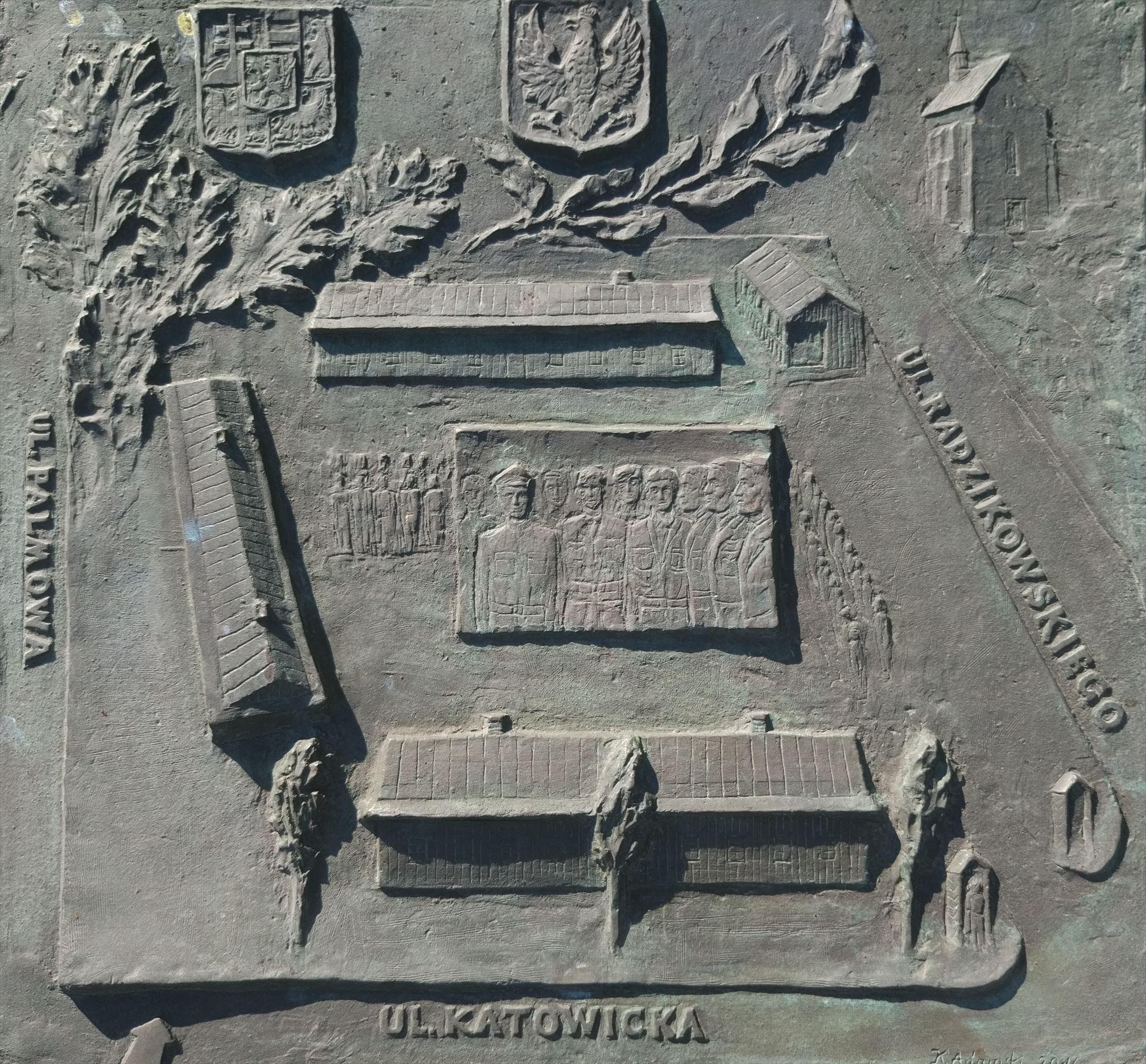 Płaskorzeźba na obelsku Legionów Czechów i Słowaków