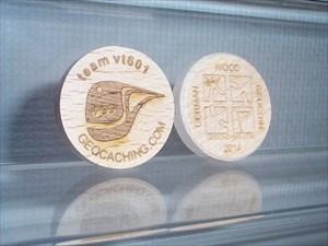 vt601 German Wood Geocoin