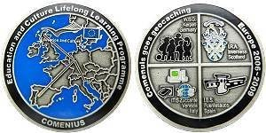 Comenius goes Geocaching Geocoin