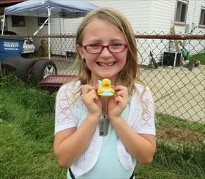 Fairy Duck Mackenzie with Mackenzie