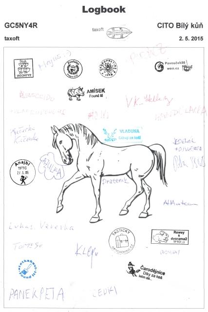 GC5NY4R - CITO Bílý kůň - logbook