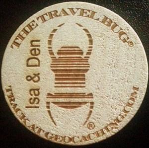 Isa & Den Travelbug® GeoTimber