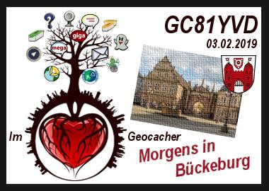 Im ❤ Geocacher - Morgens in Bückeburg