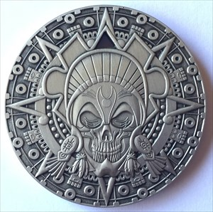 LordT's Aztec Pirate Geocoin - Front