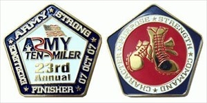 Army Ten Miler Finisher Coin