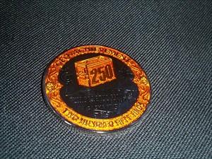 Geo-Achievement vt601 Finds 250 Geocoin (front)