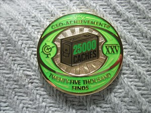 25,000 Finds Geo-Achievement Geocoin