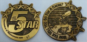 5 Star Kayak Geocoin