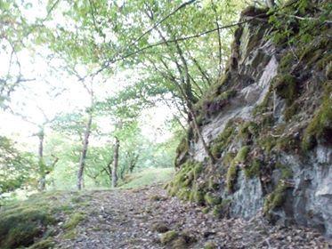 Felsen oberhalb
